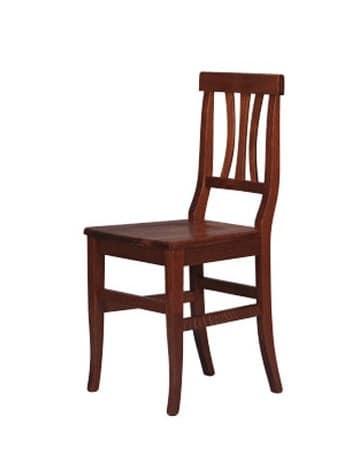 185, Rustikaler Stuhl ganz aus Buchenholz, für Hotels gemacht