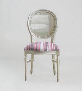 S07STK, Klassischer Stuhl mit runder Rückenlehne aus Zuckerrohr