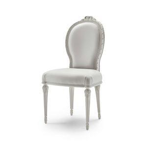 Stuhl 9023 Stil LXVI, Zeitloser klassischer Stuhl im Louis XVI-Stil