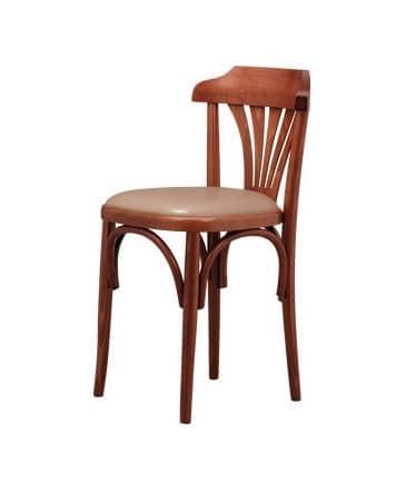 B03, Buchenstuhl mit gepolstertem Sitz, zum Weinstube