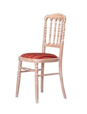 1070 STK, Stuhl mit Holzstruktur, für historische Café