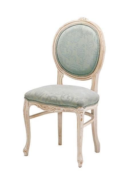 S05, Stuhl mit Buchen Basis, gepolstert, im klassischen Stil