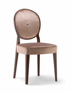 SOFIA SIDE CHAIR 045 S, Stuhl mit runder Rückenlehne