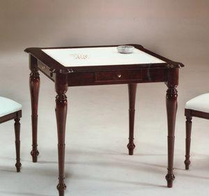 2245 Tisch, Tisch mit Lederplatte im englischen Stil
