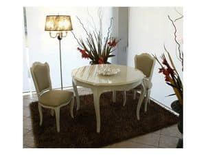 3520 TABLE, Klassische moderne Tisch, glänzend lackiert