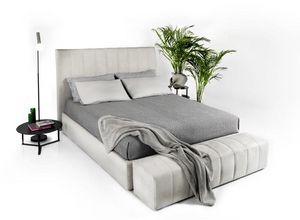 Bruce, Modernes Bett mit luxuriösem Design