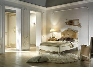G 707, Einzelbett und eine Hälfte, gepolstert und klassisch