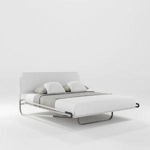 Portofino Due, Bett mit dreidimensionalem Stoffkopfteil