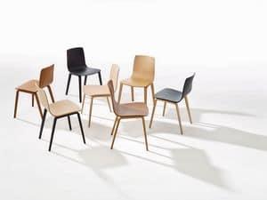 Aava, Stuhl mit Stahlgestell, mehrschichtige Holzkessel