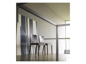 Forever, Holzstuhl mit gepolstertem Sitz
