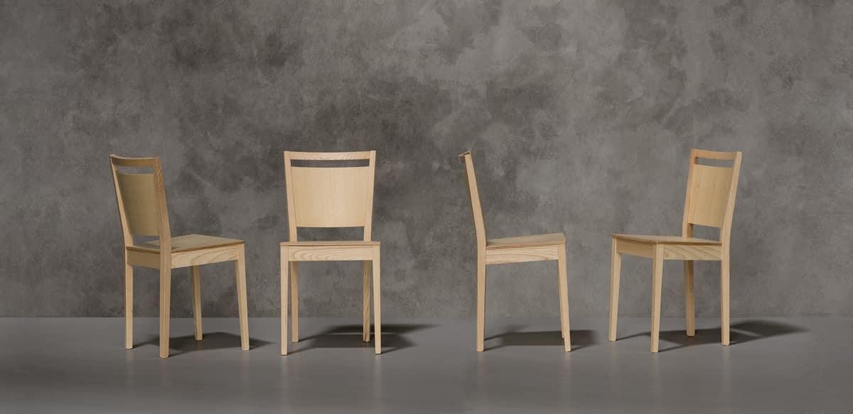 TREVISO, Modern chair in Eschenholz