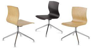 WEBWOOD 368, Stuhl mit Holzrücken