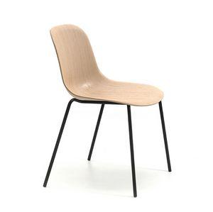 Máni Wood 4L, Stuhl mit Schale aus 3D-Grundfurnier