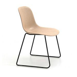 Máni Wood SL, Stuhl mit Schlittenfuß