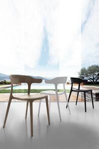 Art. 056 Brera, Stuhl aus Polypropylen, Stapelbar, für Außenbar