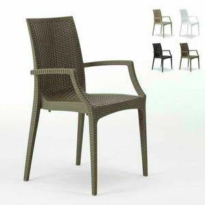 Bar Stuhl mit Armlehnen Garten – S6625, Stuhl mit Armlehnen, stapelbar, wirtschaftlich, für Bars