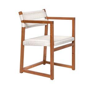 Emily 4322, Stuhl aus Teakholz sowohl für Außen- und Innenbereich
