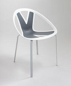 Extreme cod. 83, Stuhl mit Sitz in Kunststoff, für externe