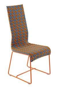 Kente Stuhl, Stuhl mit hoher Rückenlehne, handgewebt, für den Außeneinsatz