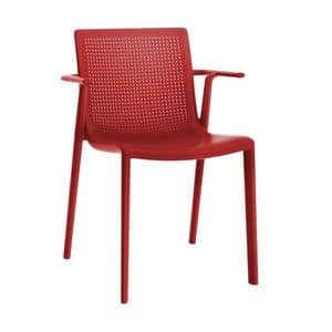 Kirama - P, Stuhl mit Armlehnen, stapelbar, aus Polypropylen, für Bars