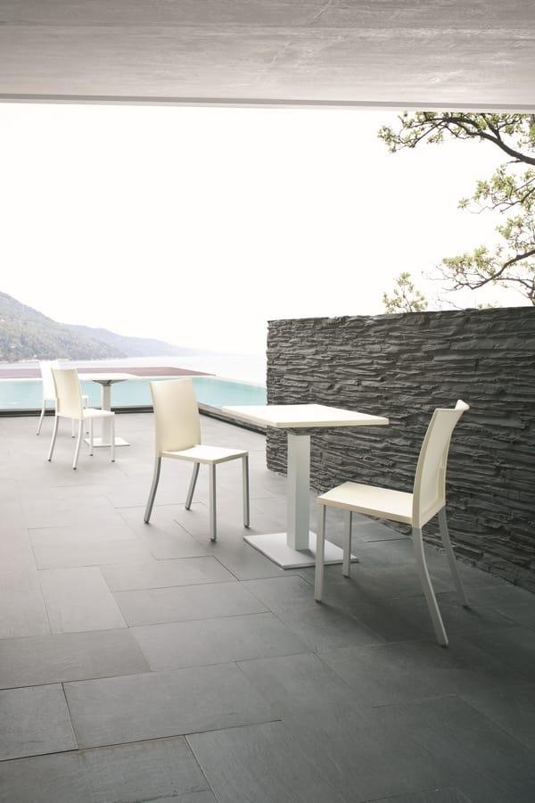 Liberty, Stapelbare Stuhl aus Metall für den Objektbereich