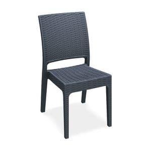 Lipari - S, Robust, moderner Stuhl, stapelbar, für Outdoor-Bar