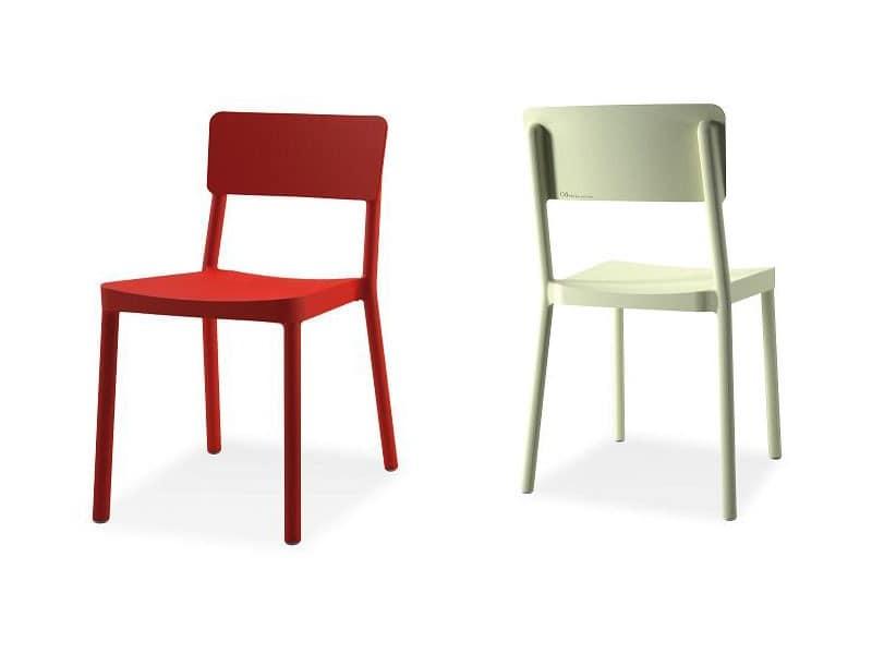 Lisboa chair, Kunststoff-Stapelstuhl für Bars und Restaurants