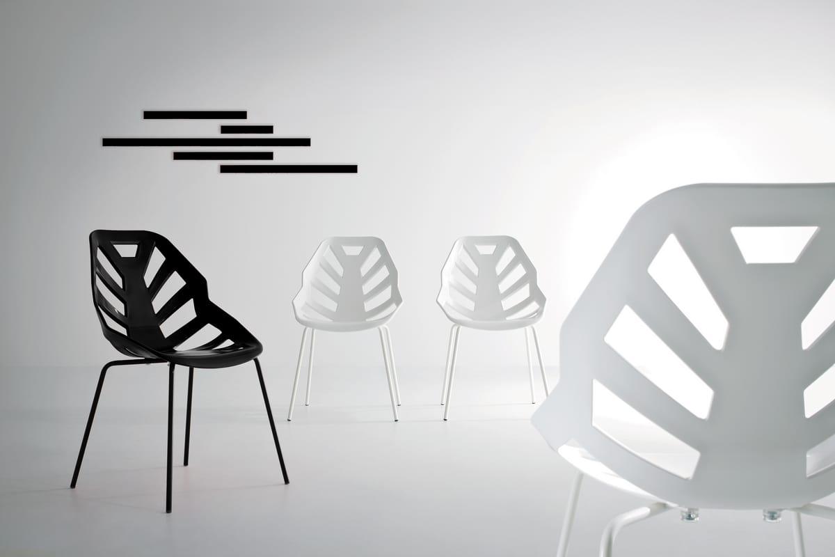 Ninja NA, Polymer Stuhl, lackiertem Metall, für den Außenbereich