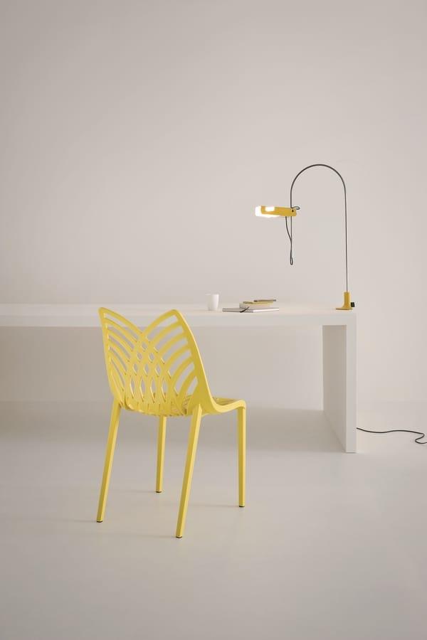 Opera, Gefärbt Stuhl in Polymer, für den Innen- und Außeneinsatz