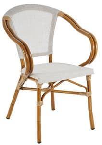 PL 420, Stuhl aus Aluminium und textilene, in Bambus-Stil