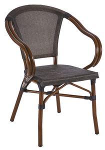PL 421, Gewobener Outdoor-Stuhl mit geschwungenen Armlehnen