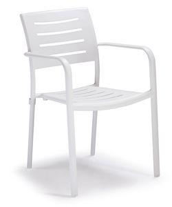 PL 450, Stapelbarer Aluminiumstuhl für Gärten