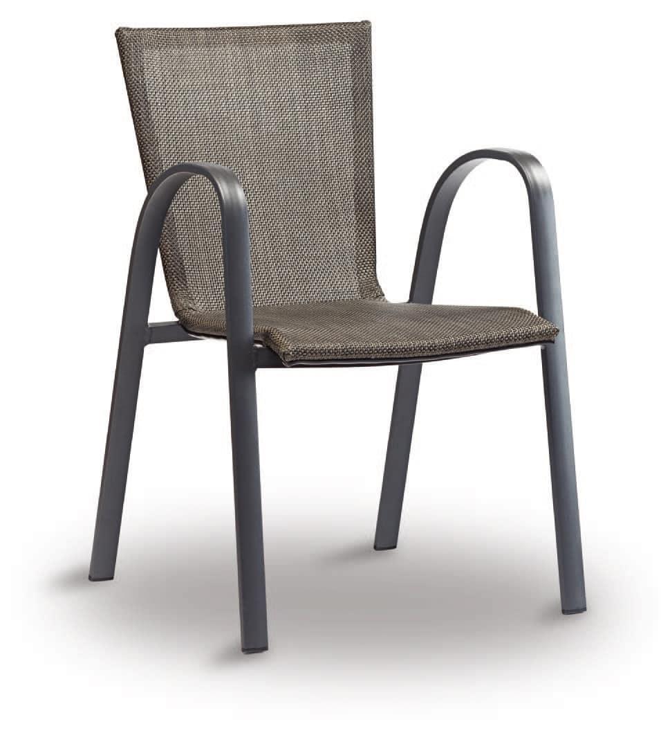 PL 467, Stuhl aus Aluminium und textilene, für Bars und Restaurants