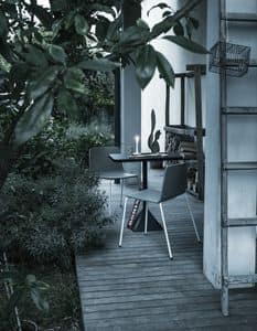 Rama Four Legs Outdoor, Poliporpilene Stuhl, ideal für Außenräume