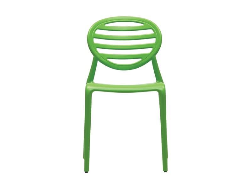 SE 2317, Stapelbare Polypropylen Stuhl, für Garten und Terrasse