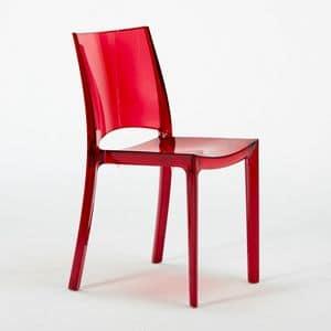 Sedia trasparente cucina impilabile B-Side – S6315TR, Stuhl aus transparentem und robustem Polycarbonat