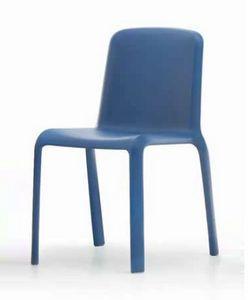 Snow, Farbiger Stuhl aus Kunststoff für den Außenbereich