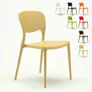 Stapelbar-Küchenstühle im Freien Polypropylen innerhalb GARTEN-GIULIETTA - SG689PP, Stapelbarer und haltbarer Außenstuhl
