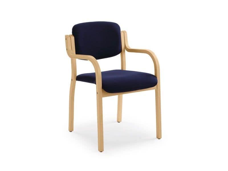 Kalos 3 169701, Gepolsterte Sessel in Holz, für Kongresshallen