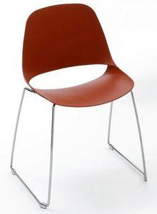 Meeting - T, Stapelbare Stühle mit Schlittenfuß