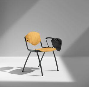 OMNIA CONTRACT 4G, 4 Beine Stuhl für Konferenzen, mit Schreibtafel