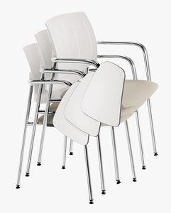 Q44, Stapelbare Stühle mit Anti-Panik-Tisch