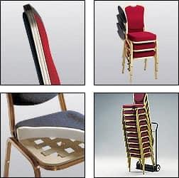 Siena-Allday 62/2 E, Stuhl für Konferenzen und Tagungen, mit Schreibtablett
