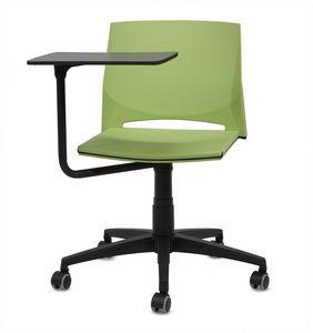 TREK 040 TO, Stuhl auf Rollen, mit Tablett