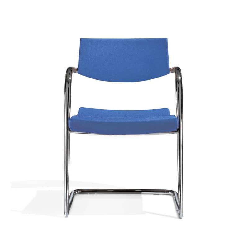 Klic, Metallstuhl, stapelbar, für Konferenz- und Tagungsraum