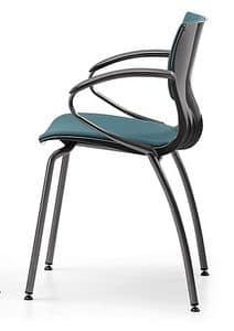 WEBBY 339 S, Nylon und Metallstuhl, gepolsterter Sitz, für Konferenz