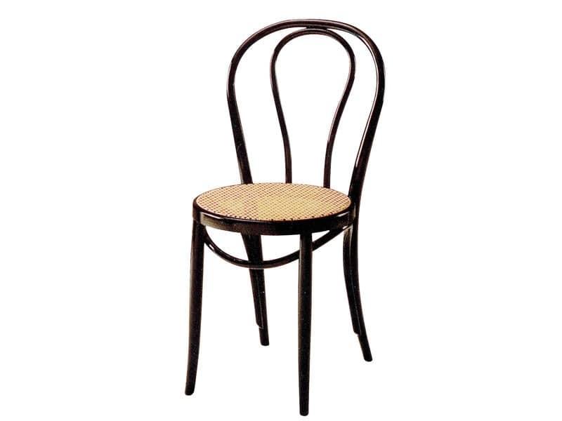 01/PAT, Holzstuhl mit Sitz aus Zuckerrohr, für Bars und Pubs