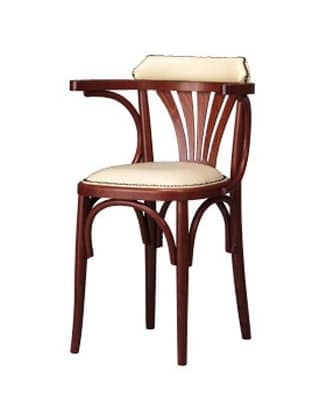 134, Stuhl mit Armlehnen und gekrümmte Hölzer, Landhausstil