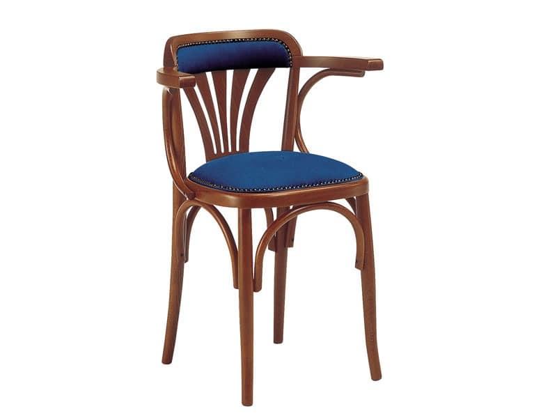 620, Holzstuhl mit gepolstertem Sitz, für Bars und Pubs