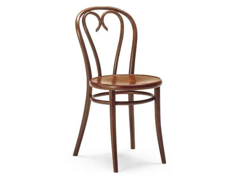 Berlino, Stuhl aus Schmiede Holz, für Bars und Pubs